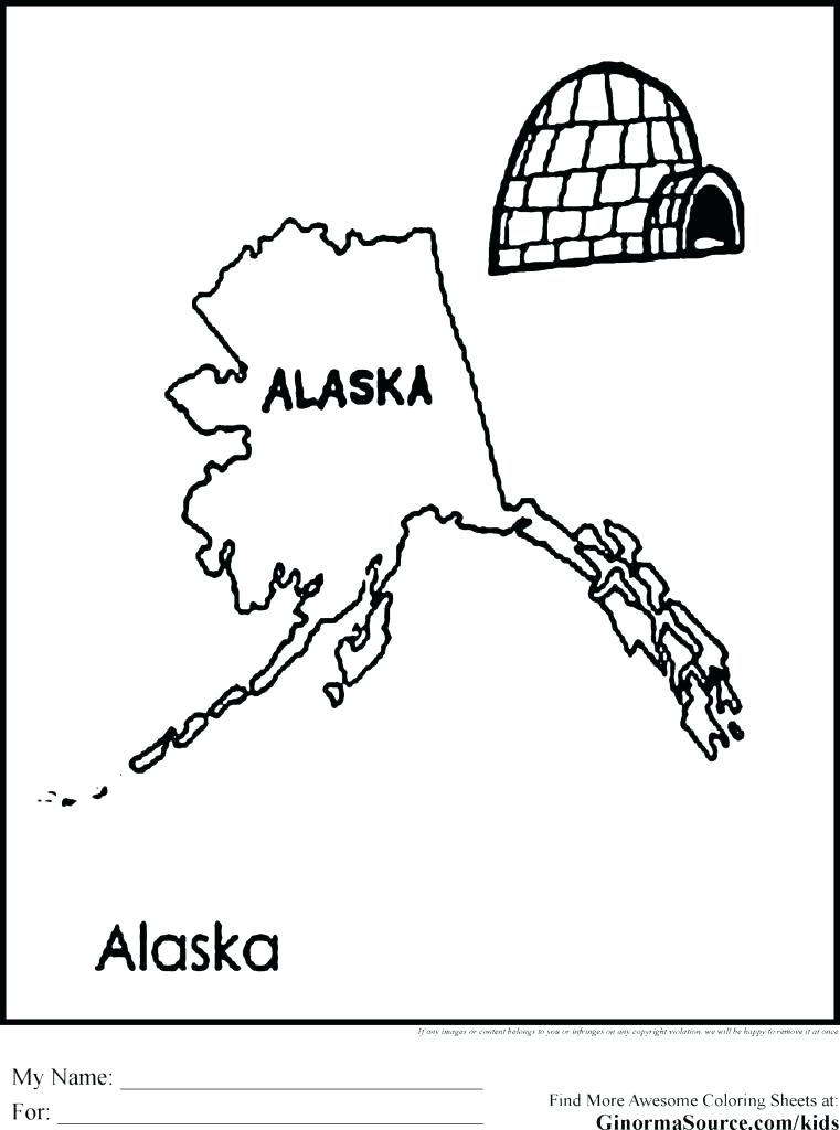 Alaska Map Coloring Page at GetDrawings.com | Free for personal use ...