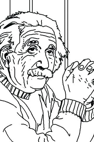 320x480 Albert Einstein Coloring Pages Coloring Pages Photos Of Coloring