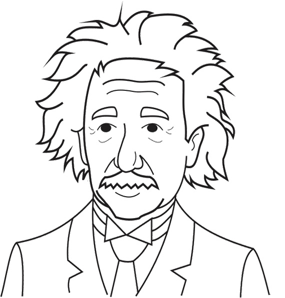 570x594 Albert Einstein Coloring Pages For Adult Kids Coloring Pages