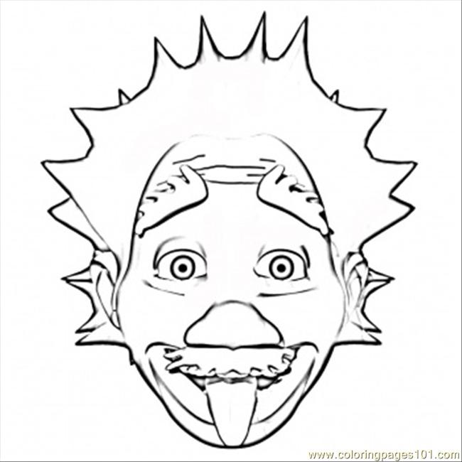 650x650 Albert Einstein Coloring Page