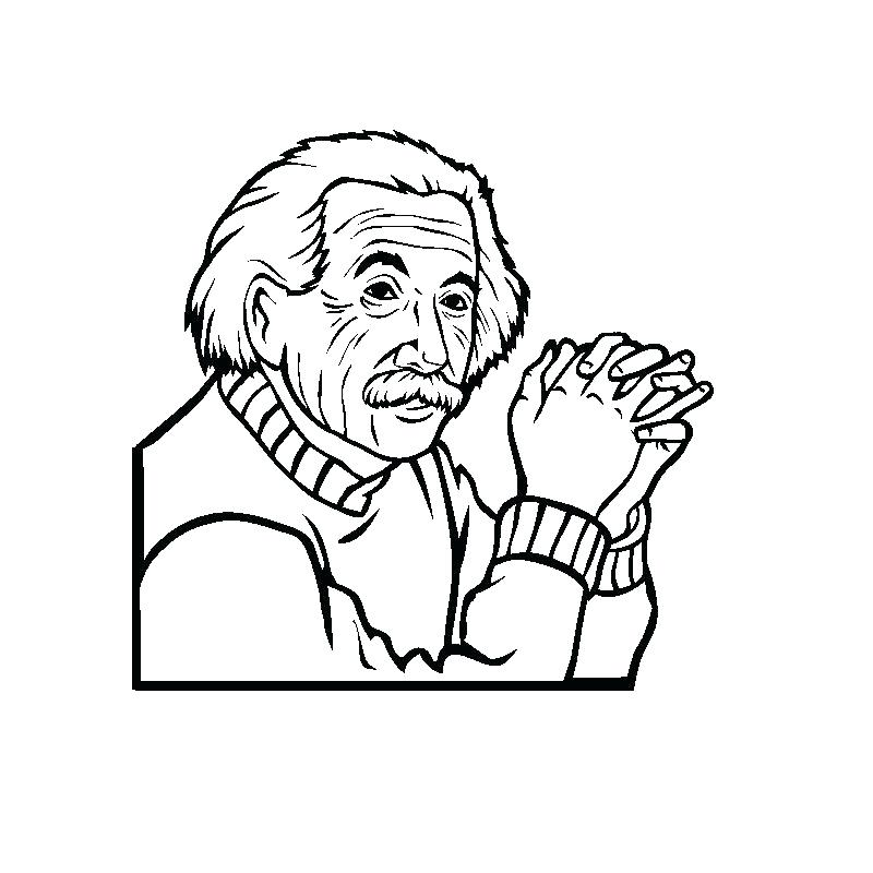 800x800 Albert Einstein Coloring Page Coloring Pages Charming Little