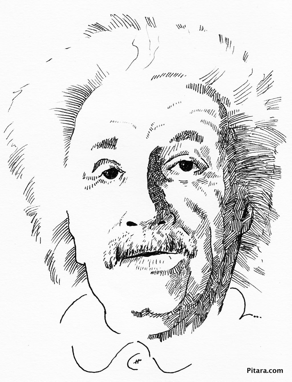 1024x1342 Albert Einstein Coloring Page