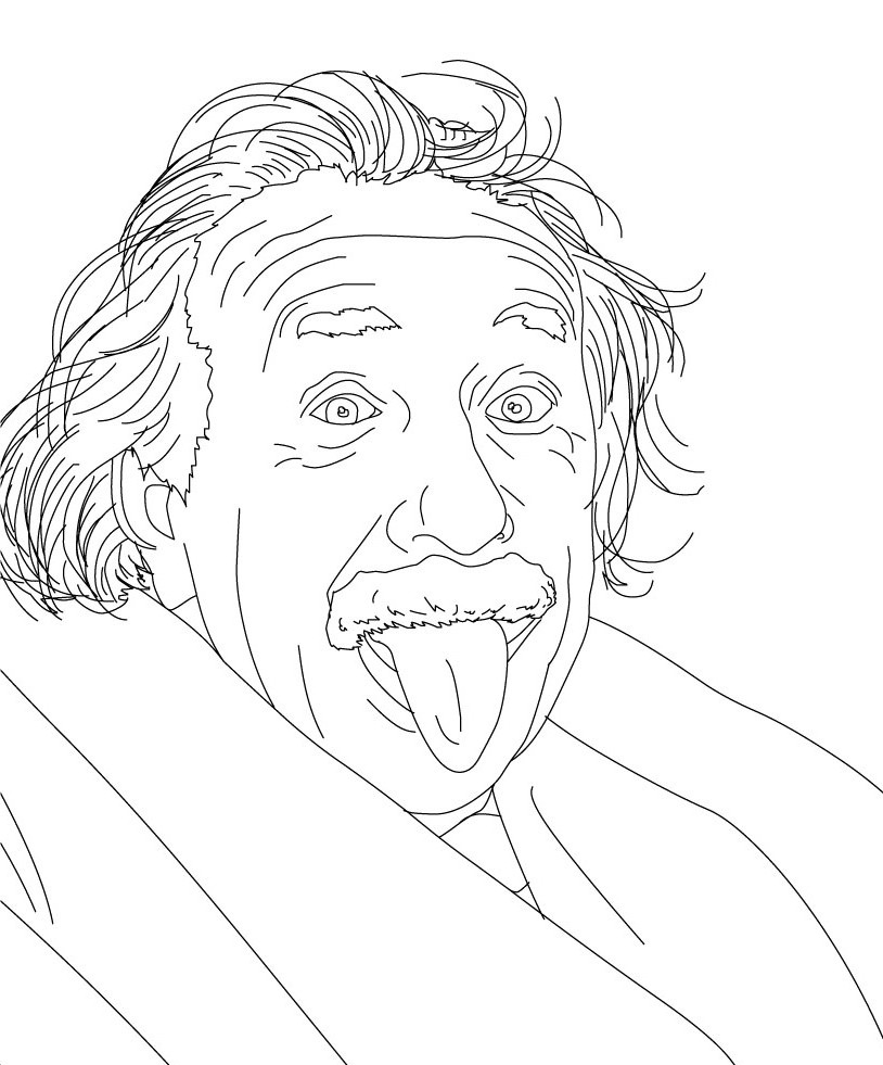 814x981 Albert Einstein Coloring Pages
