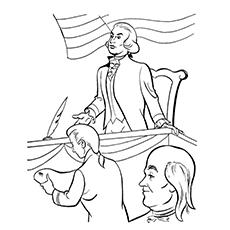 Alexander Hamilton Coloring Page