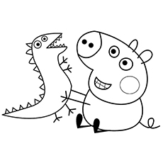 230x230 Peppa Pig Character Baby Alexander Coloring Pages Pepper Pig