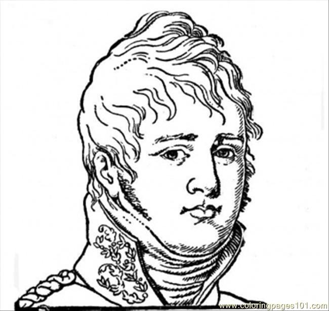 650x613 Tsar Alexander I Coloring Page
