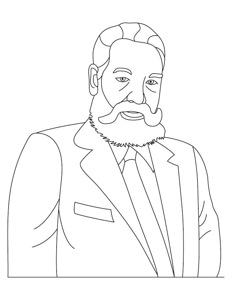 738x954 Alexander Graham Bell Coloring Page Graham Bell Coloring Page