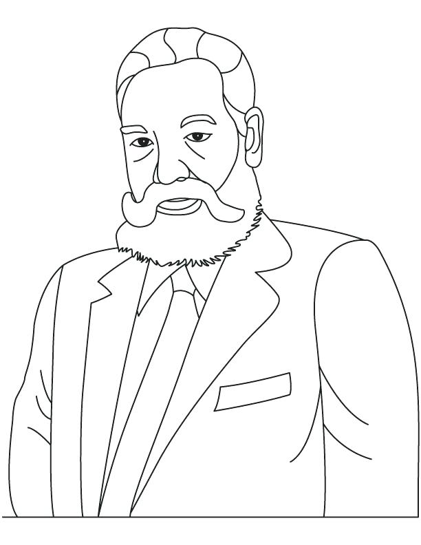 612x792 Alexander Graham Bell Colouring Page Printable Coloring Pages