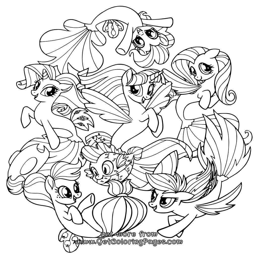 1024x1024 Printable My Little Pony The Movie Coloring Pages