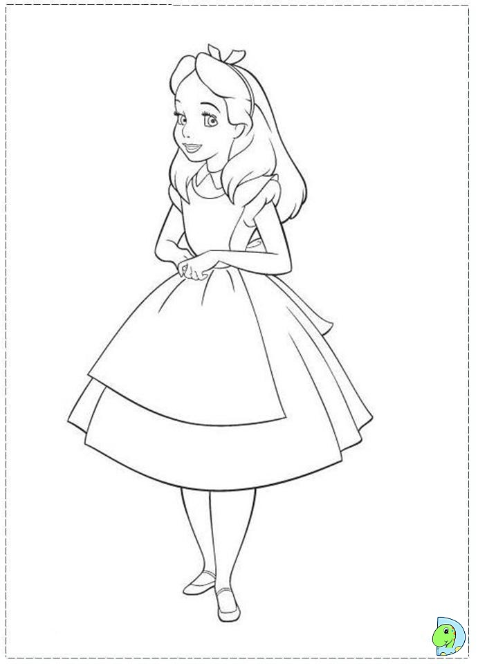 691x960 Alice In Wonderland Coloring Page