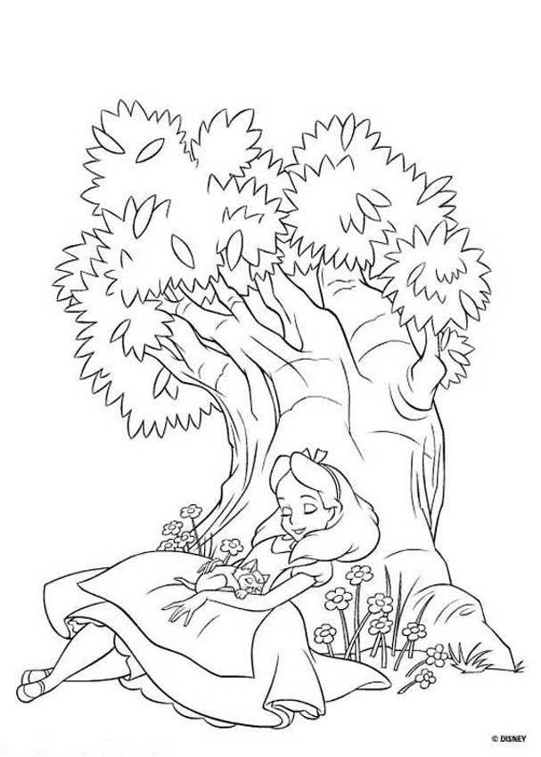 607x850 Alice Coloring Pages