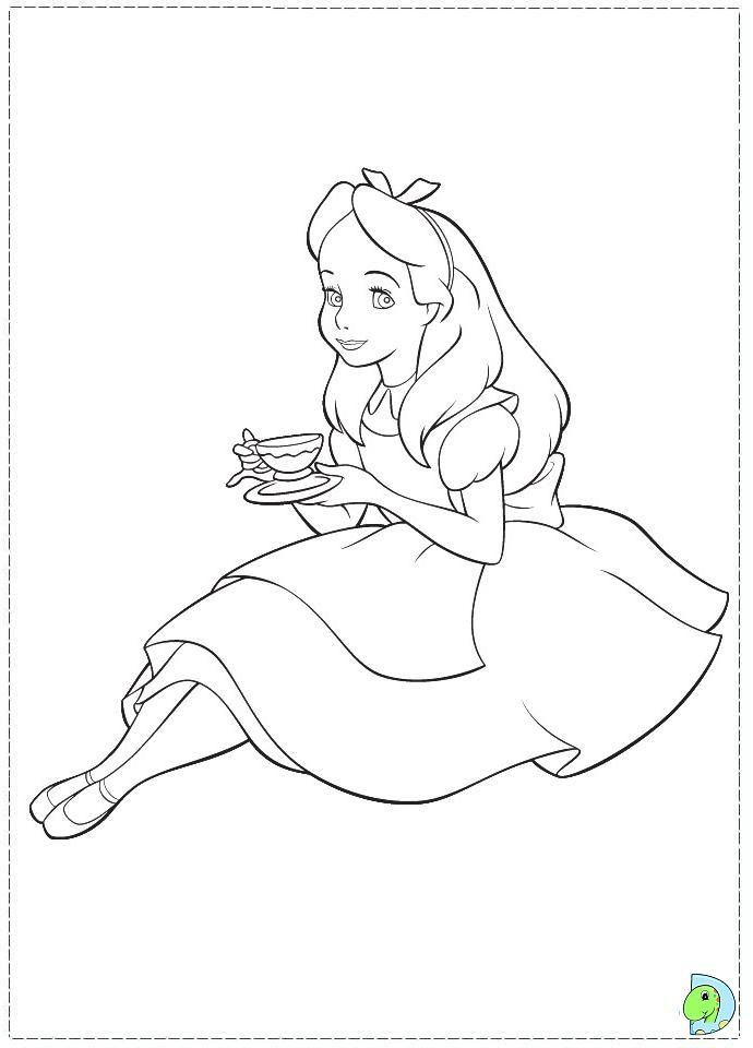 690x960 Top Alice Coloring Pages