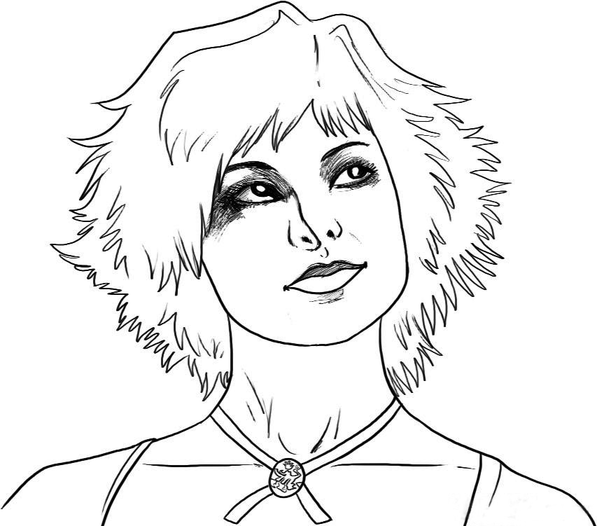 853x751 Twilight Alice Coloring Page