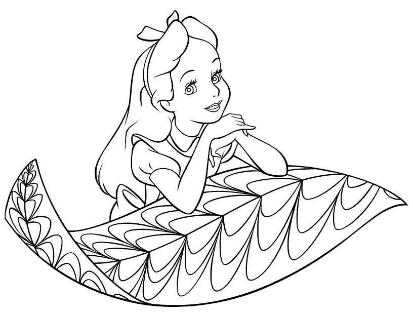 816x620 Alice In Wonderland Coloring Pages Free Printables For Girls
