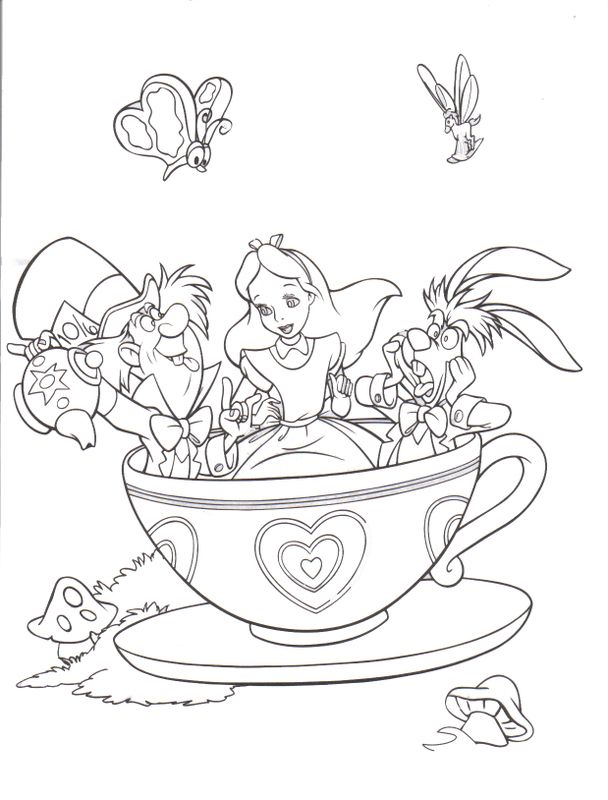 608x800 Alice In Wonderland Disney Coloring Page Lowrider Car Pictures