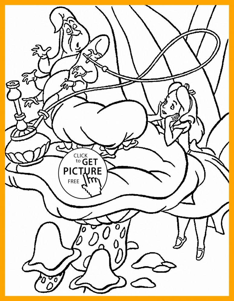 774x994 Appealing Alice In Wonderland Coloring Page Gallery Image