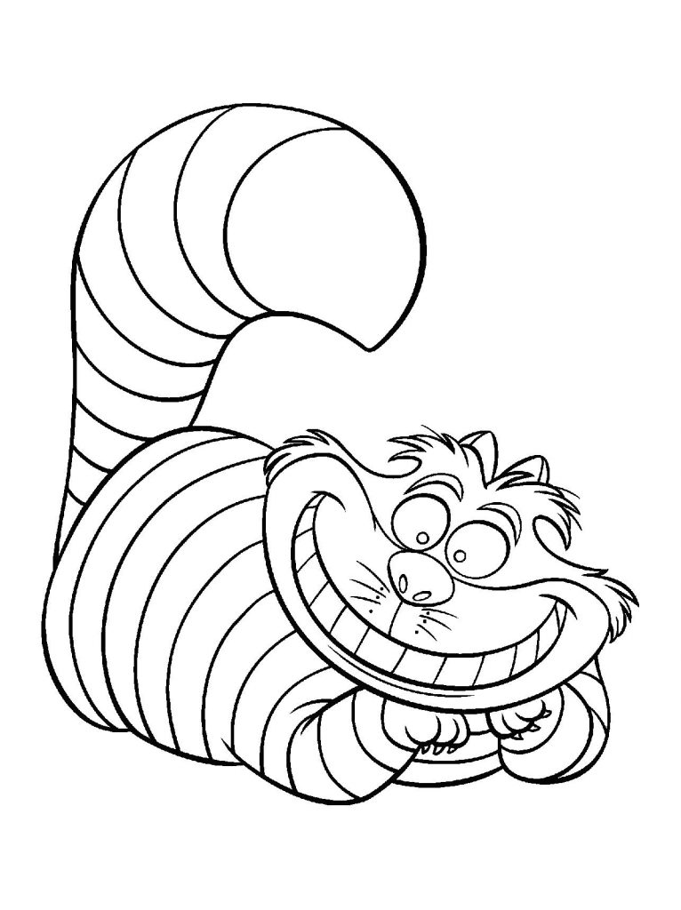 766x1024 Cheshire Cat Coloring Page