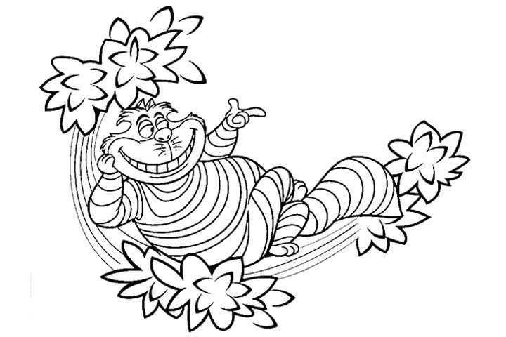 720x480 Cheshire Cat Coloring Pages