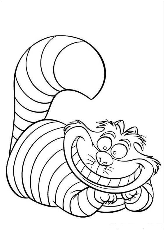 567x794 Alice In Wonderland Cat Coloring Pages Liisa Ihmemaassa