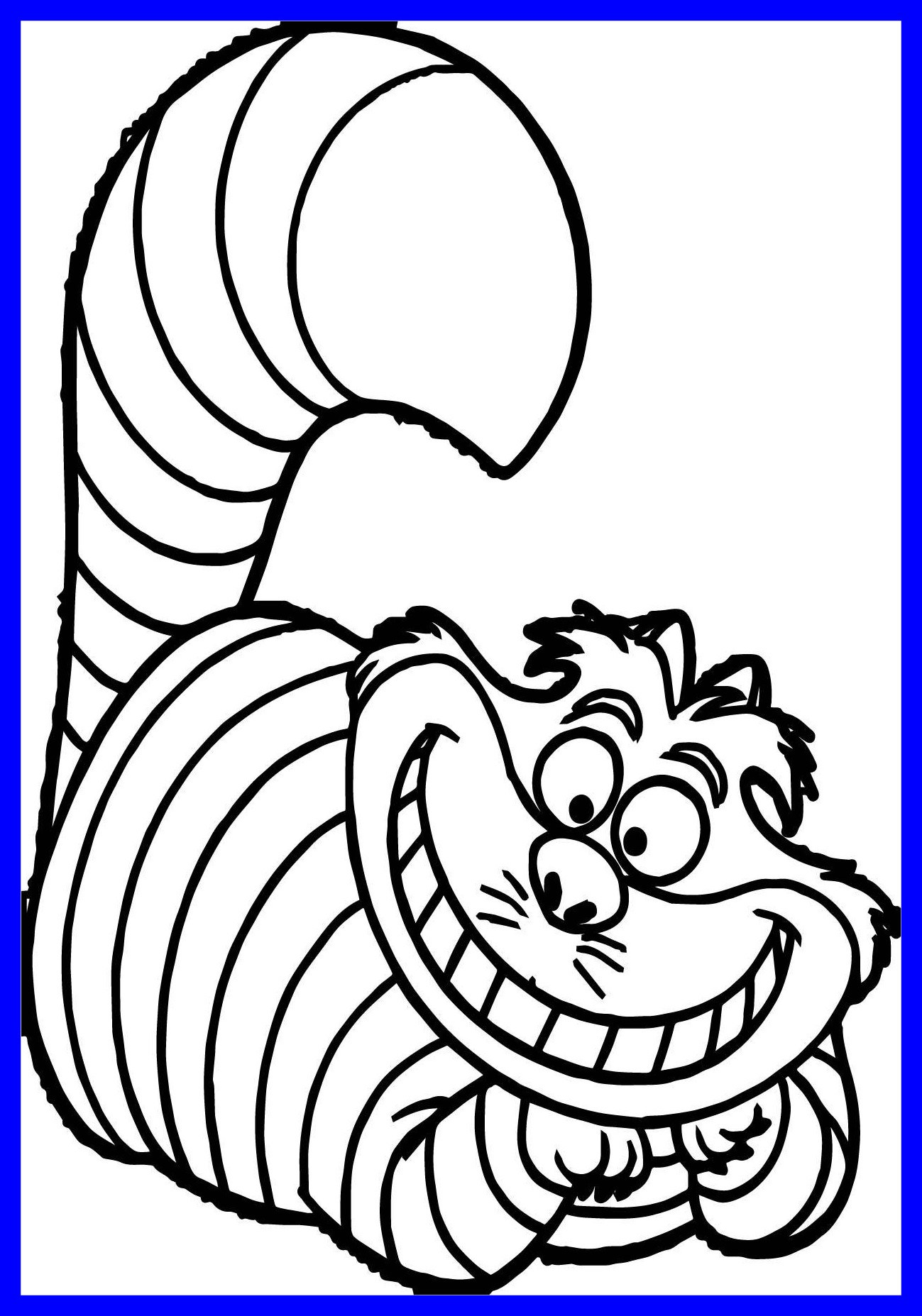 1299x1855 Fascinatingnovative Cheshire Cat Coloring Page Alice