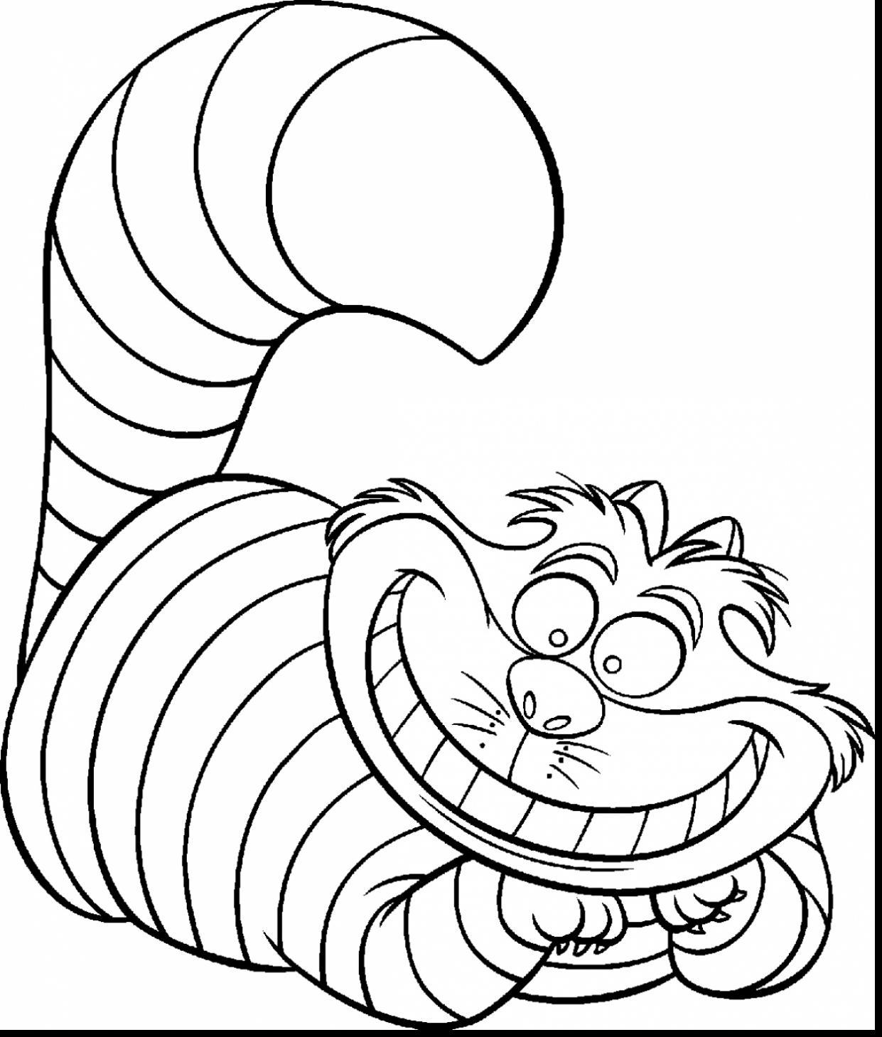 1241x1459 Incredible Alice Wonderland Cheshire Cat Coloring Pages