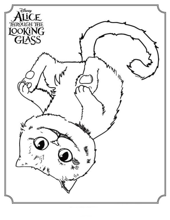 594x768 Kids N Coloring Pages Of Alice Through The Looking Glass