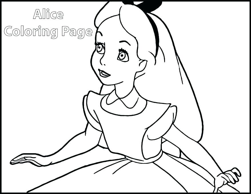 878x680 Alice In Wonderland Color Pages In Wonderland Tea Party Coloring