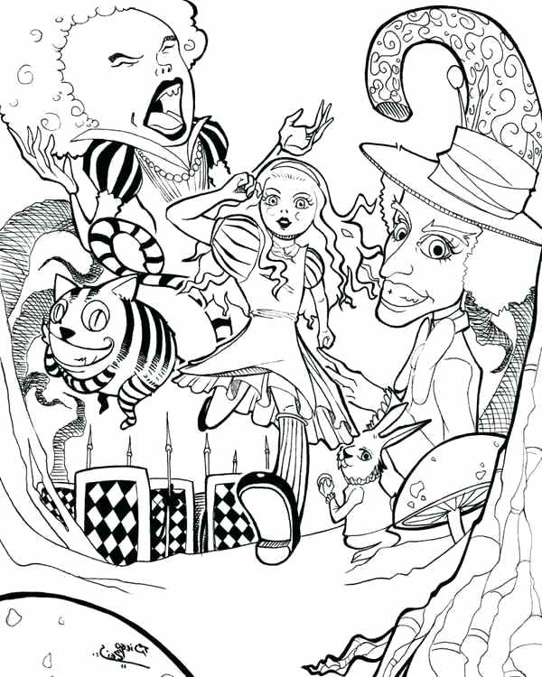 Alice In Wonderland Caterpillar Coloring Pages at GetDrawings.com ...