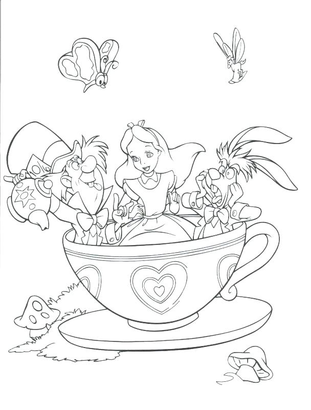 608x800 Alice In Wonderland Caterpillar Colouring Pages Coloring Print