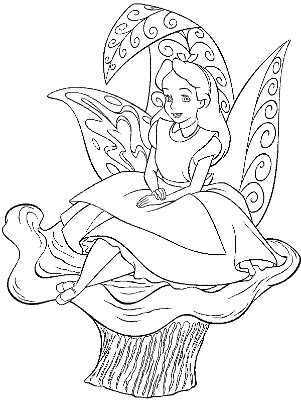 600x800 Alice In Wonderland Coloring Pages Printables