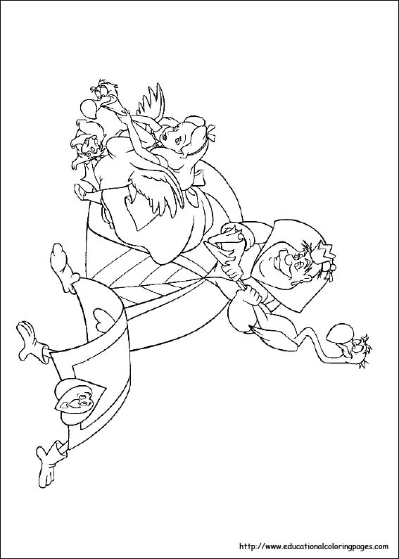567x794 Alice In Wonderland Coloring Pages Free For Kids Disney Coloring