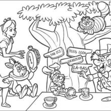 220x220 Alice In Wonderland Coloring Pages