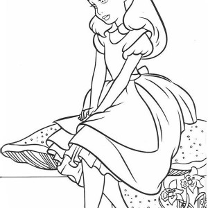 300x300 Alice Is Happy Alice In Wonderland Coloring Page Alice Is Happy