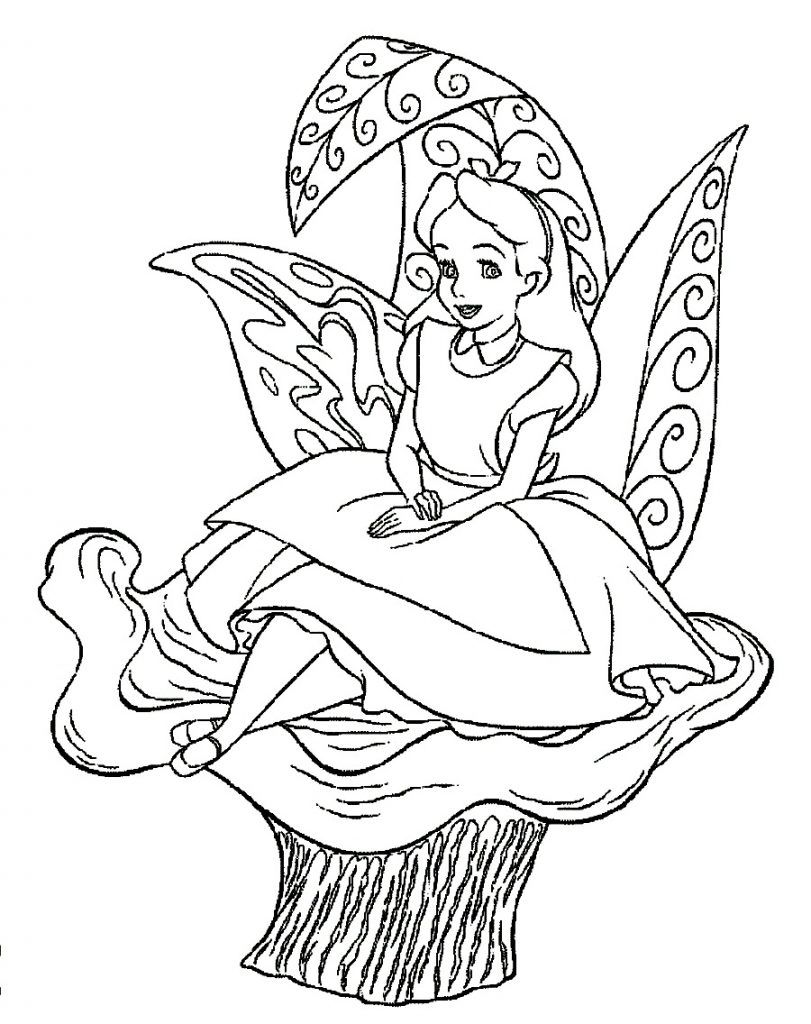 811x1024 Free Printable Alice In Wonderland Coloring Pages Http Throughout