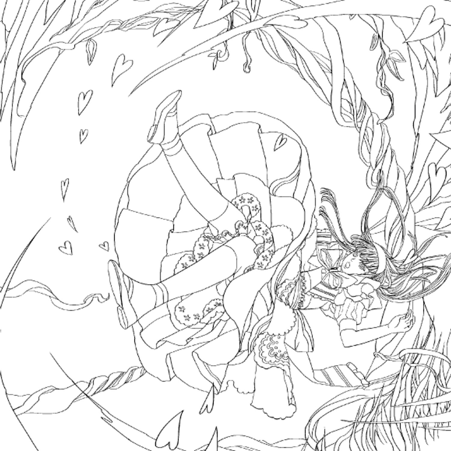 1500x1500 Alice In Wonderland Coloring Pages
