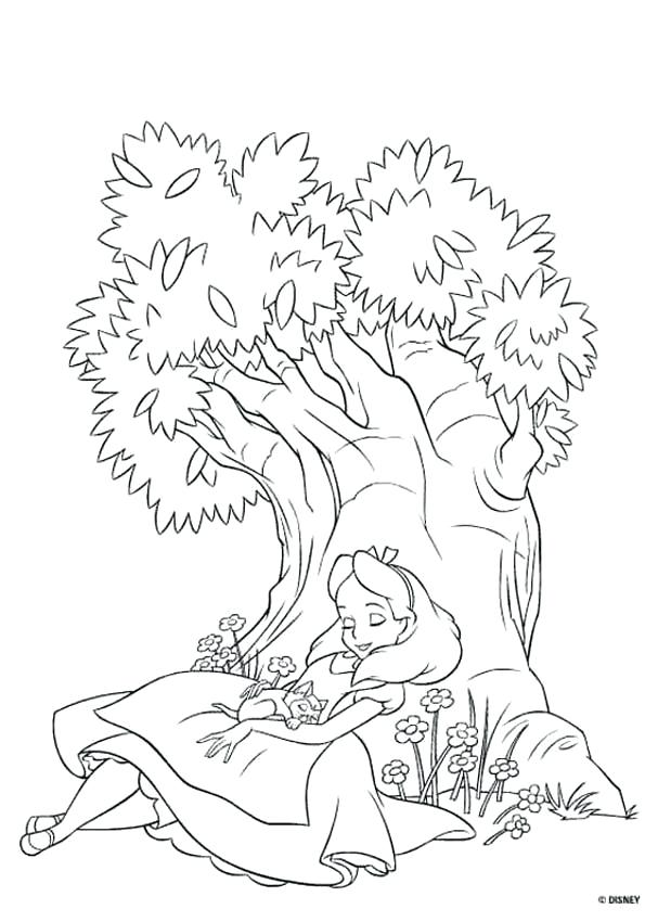 607x850 Alice In Wonderland Coloring Pages In Wonderland Coloring Pages
