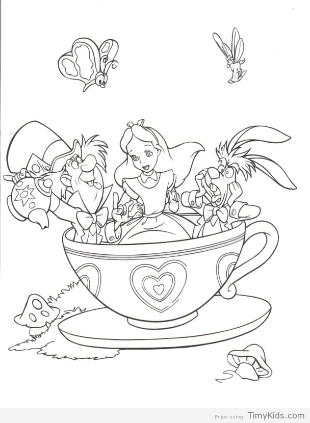 608x830 Alice In Wonderland Colouring Pages Alice In Wonderland Coloring