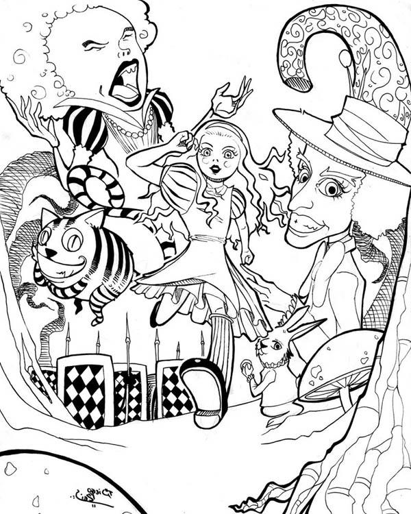 600x750 Free Alice In Wonderland Decoupage Prints Alice In Wonderland