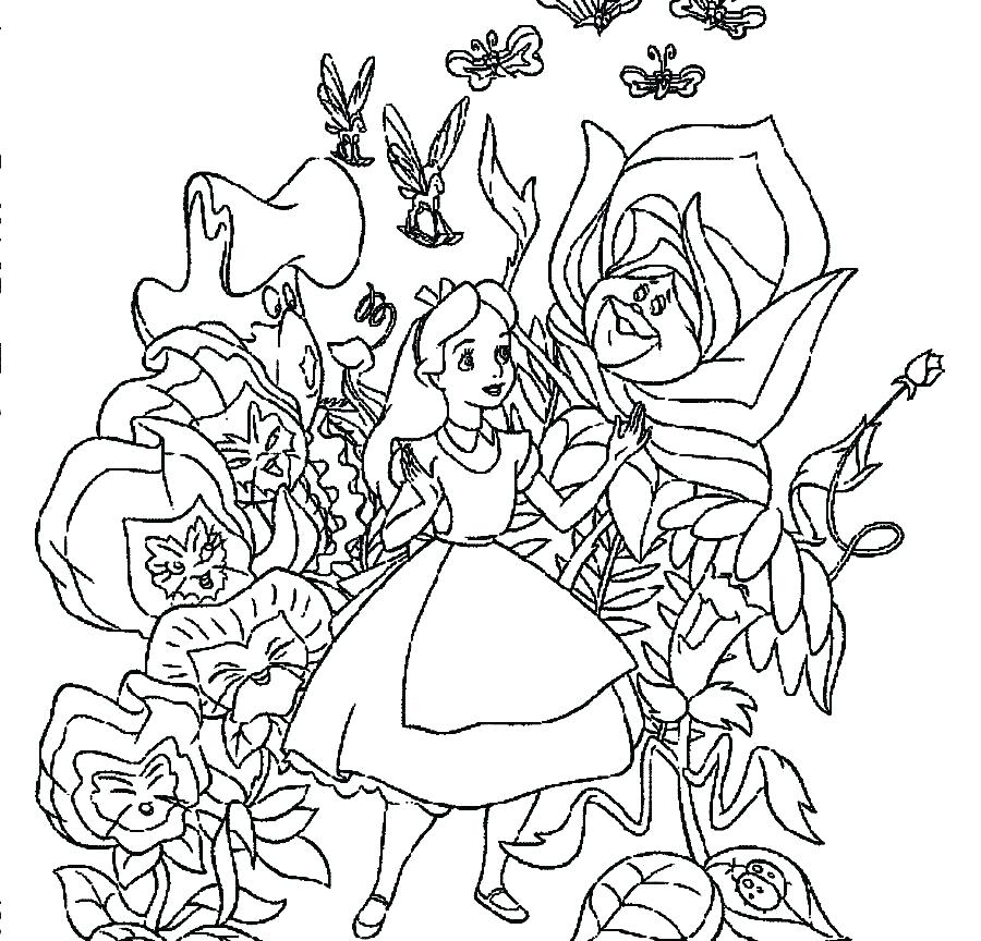 900x864 Alice In Wonderland Coloring Pages