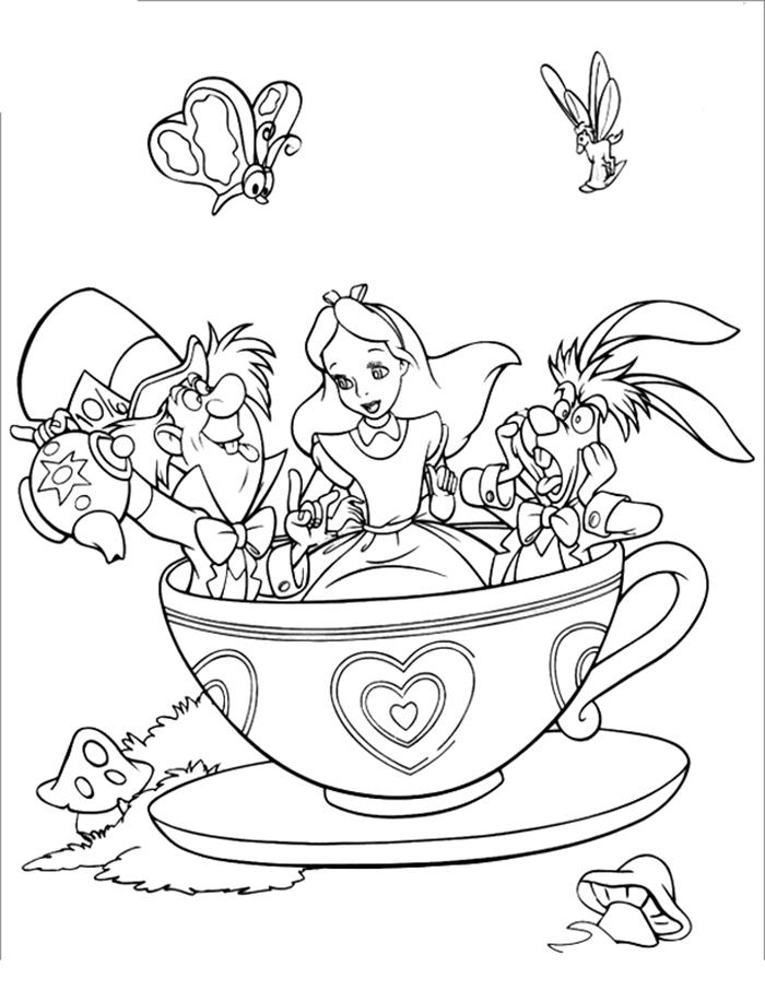 700x906 Alice Wonderland Para Colorear