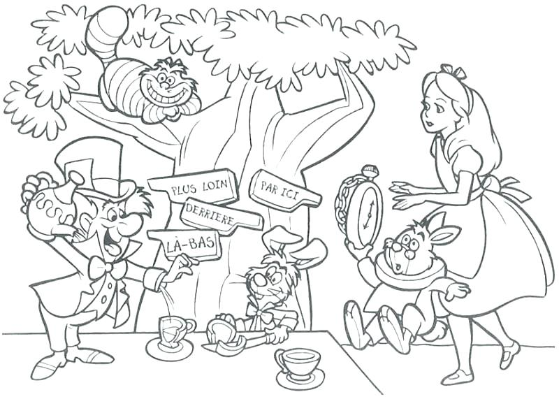800x571 Coloring Pages In Wonderland Coloring Pages Best Wallpapers Medium