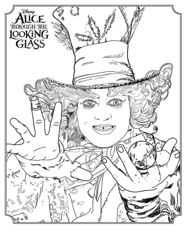595x768 Kids N Coloring Pages Of Alice Through The Looking Glass
