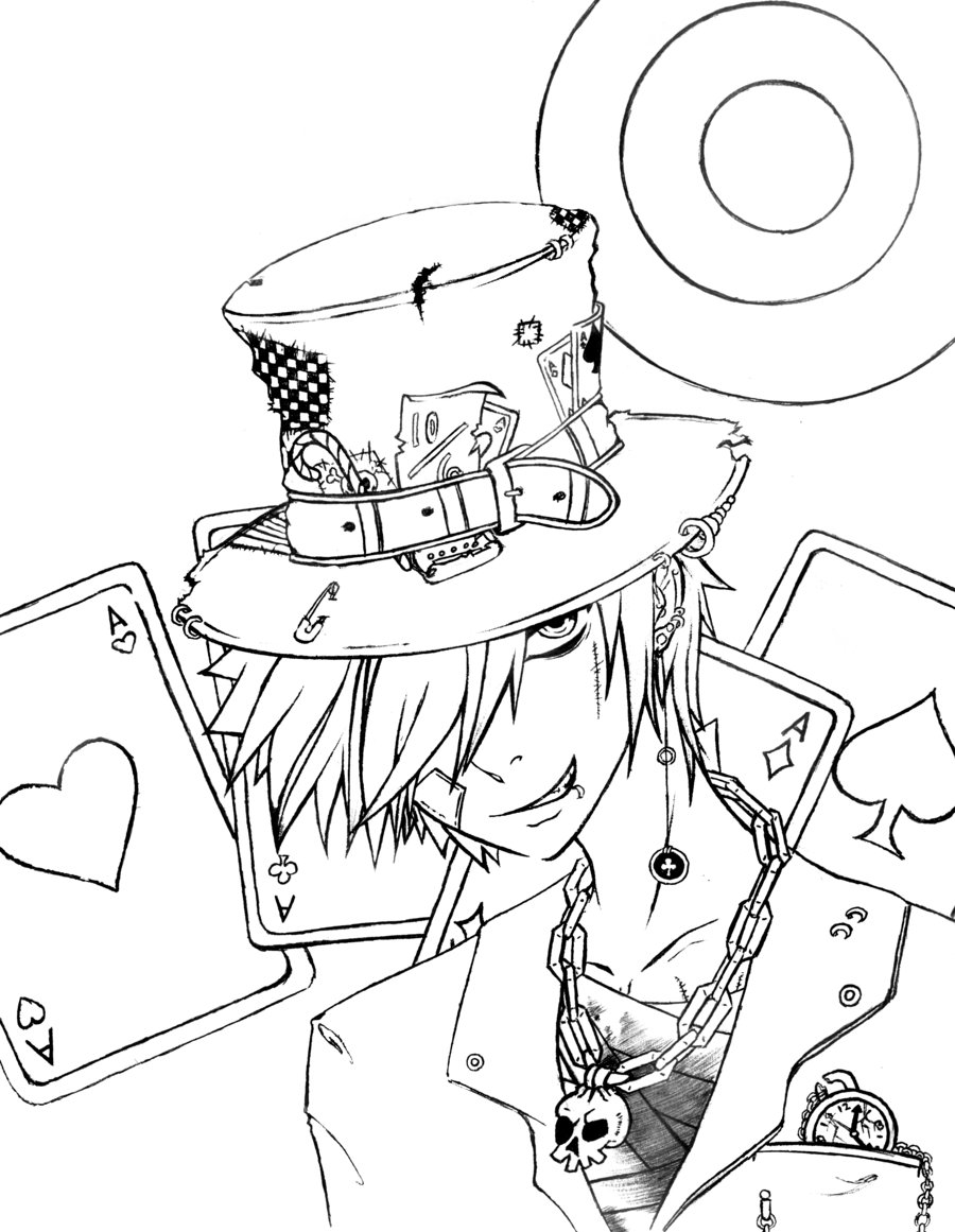 900x1161 Mad As A Hatter Alice In Wonderland Coloring Pages Online New