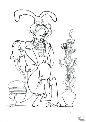354x500 Coloring Pages Alice Wonderland Coloring Pages Alice