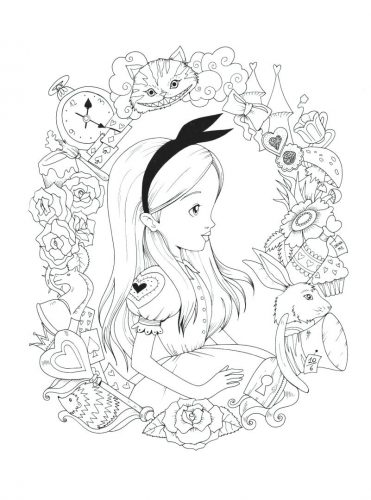 371x500 Coloring Pages Alice In Wonderland Coloring Pages Unique