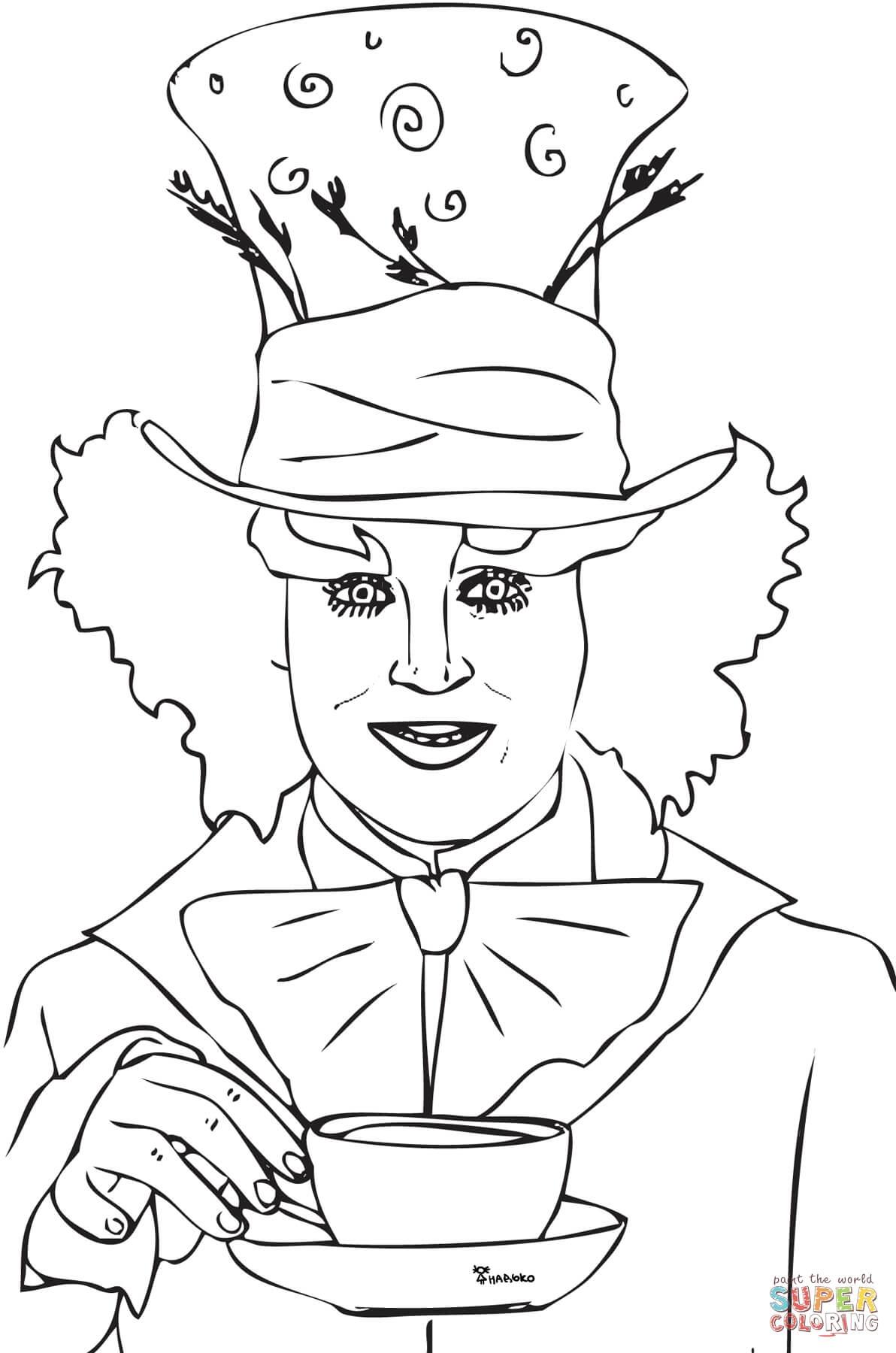 1192x1800 Alice In Wonderland Coloring Pages Tim Burton Download Free