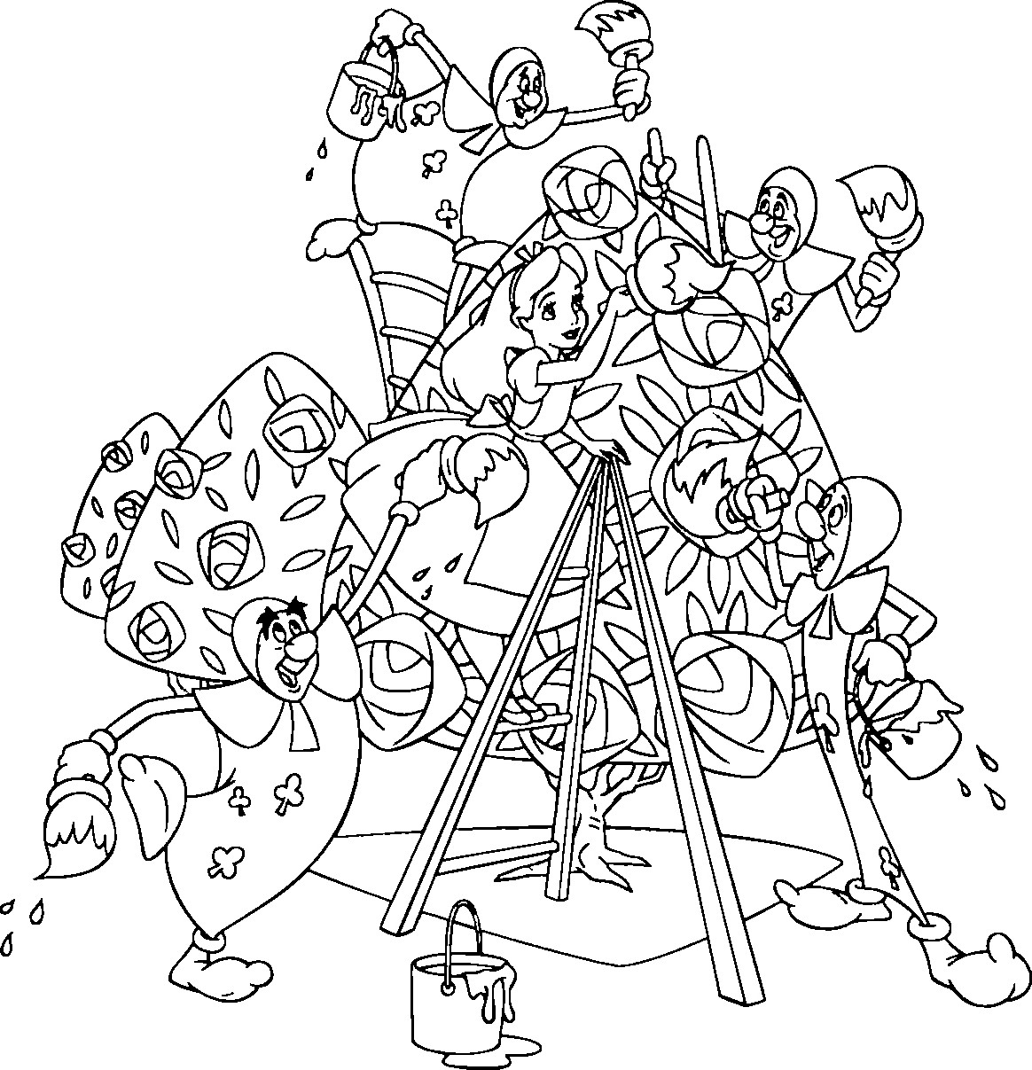 1164x1207 Alice In Wonderland Coloring Pages Wecoloringpage Alice Page Adult