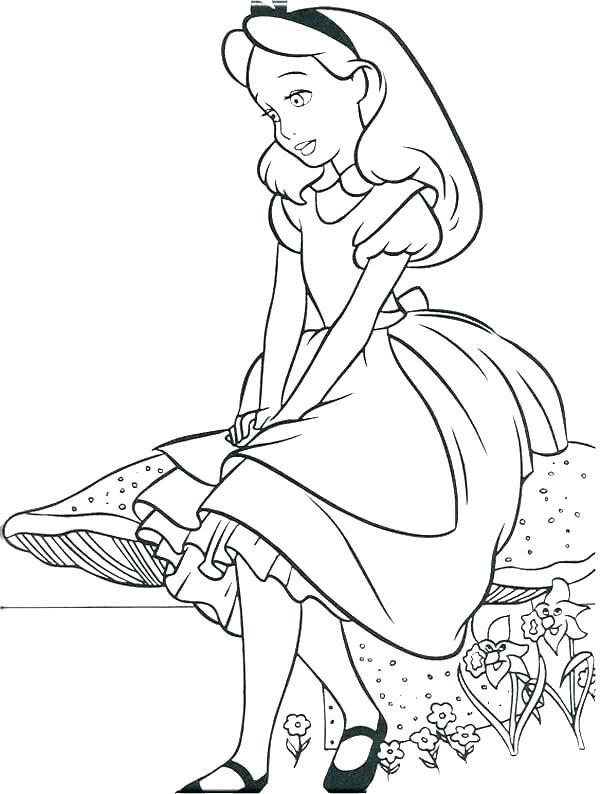 600x794 Alice In Wonderland Coloring Pages Tim Burton Books Sheets Wonde