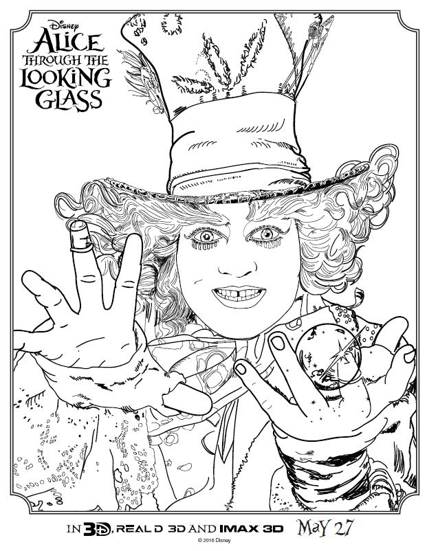 621x802 Alice In Wonderland Coloring Pages Tim Burton Kids N