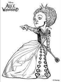 200x266 Alice Wonderland Tim Burton Coloring Pages Coloring
